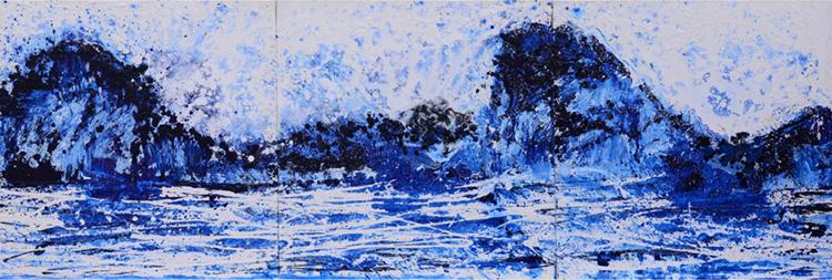 Tác phẩm Vịnh Hạ Long của Xèo Chu. Ảnh:George Berges Gallery