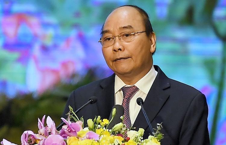 Thủ tướng Nguyễn Xuân Phúc phát biểu tại lễ kỷ niệm thành lập Quân đội nhân dân Việt Nam sáng 21/12/2019. Ảnh: Giang Huy