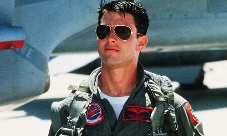 Tài tử Tom Cruise trong phim Top Gun năm 1986. Ảnh: Paramount Home Entertainment.