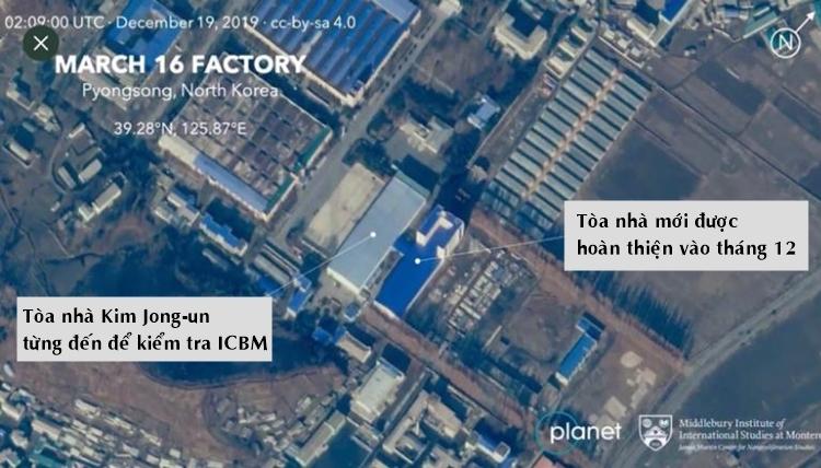 Ảnh vệ tinh nhà máy Ngày 16/3 được chụp vào 19/12. Ảnh: CNN.