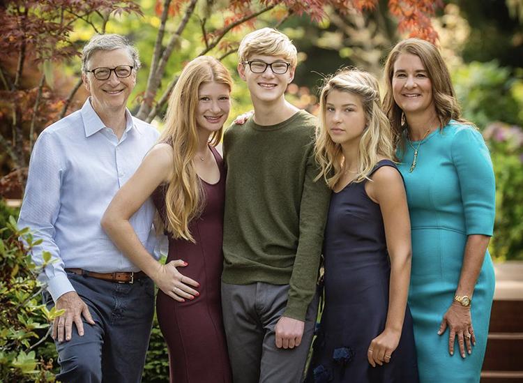Gia đình Bill Gates. Ảnh: CNBC