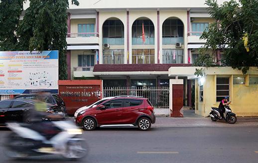 Trường cao đẳng Y tế Khánh Hòa nơi bị cáo buộc lạm thu gần 20 tỷ đồng. Ảnh: An Phước.