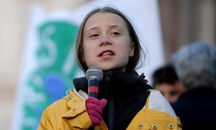 Greta Thunberg tại Turin, Italy, hôm 13/12. Ảnh: AFP.