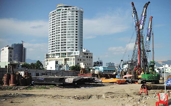 Dự án cồn Tân Lập ở Nha Trang do Công ty Sông Đà làm chủ đầu tư. Ảnh: Xuân Ngọc