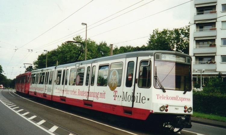 Một chuyến xe điện thuộc Tuyến 66 ở thành phố Bonn, phía tây nước Đức. Ảnh: Sporvognsrejser.