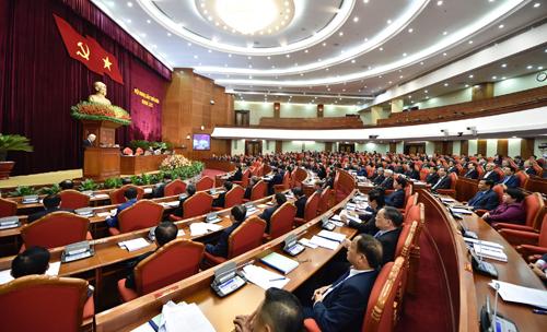 Hội nghị Trung ương 9 Khóa XII diễn ra trong hai ngày 25 và 26/12. Ảnh: VGP