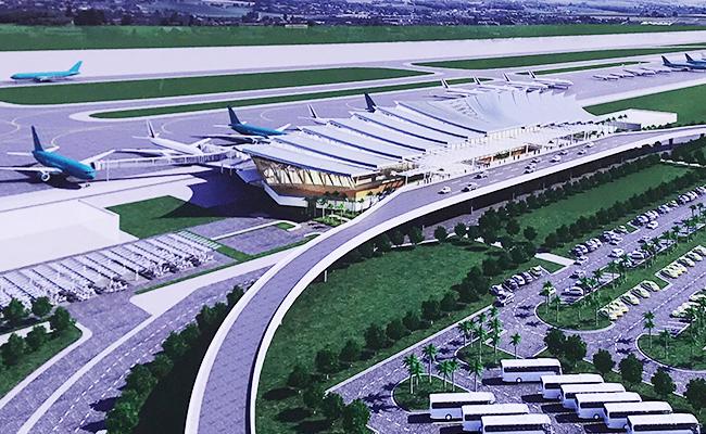Phối cảnh nhà ga T2 sân bay Phú Bài.