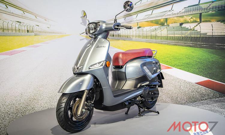 Saluto, mẫu xe ga mới của Suzuki ra mắt thị trường Đài Loan. Ảnh: Moto7.