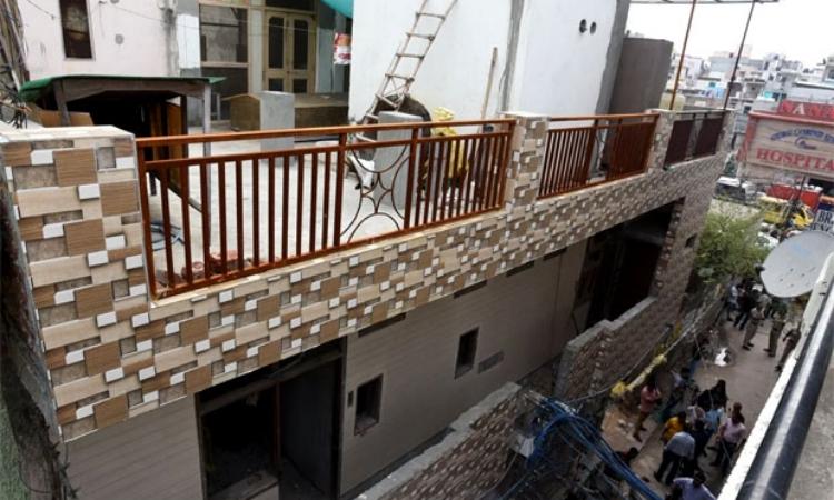 Ngôi nhà có 11 người tự tử hồi tháng 7/2018 ở Burari, Ấn Độ. Ảnh:Times Now.
