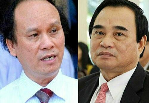 Hai cựu chủ tịch Trần Văn Minh và Văn Hữu Chiến.