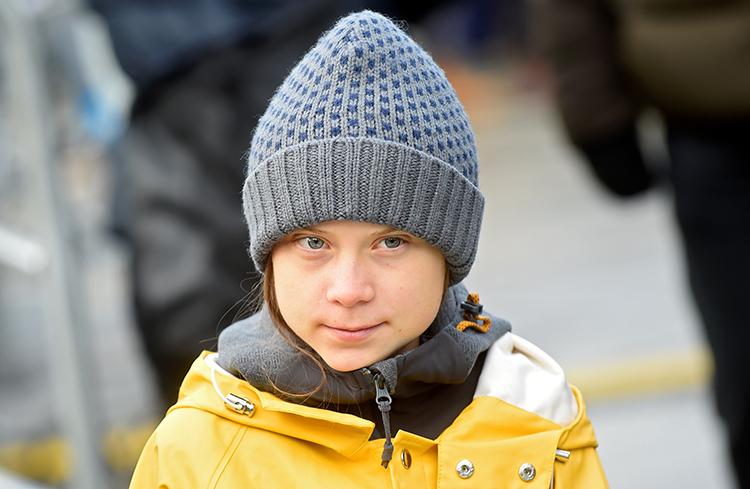 Thunberg trong cuộc biểu tình ở Italy hôm 13/12. Ảnh: Reuters