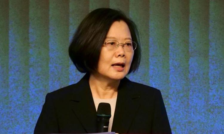 Lãnh đạo Đài Loan Thái Anh Văn tại Đài Bắc ngày 19/11. Ảnh: Reuters.