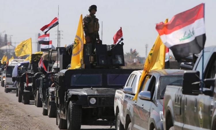 Đoàn xe Kataib Hezbollah trong chiến dịch tấn công thành phố Fallujah năm 2016. Ảnh: SouthFront.