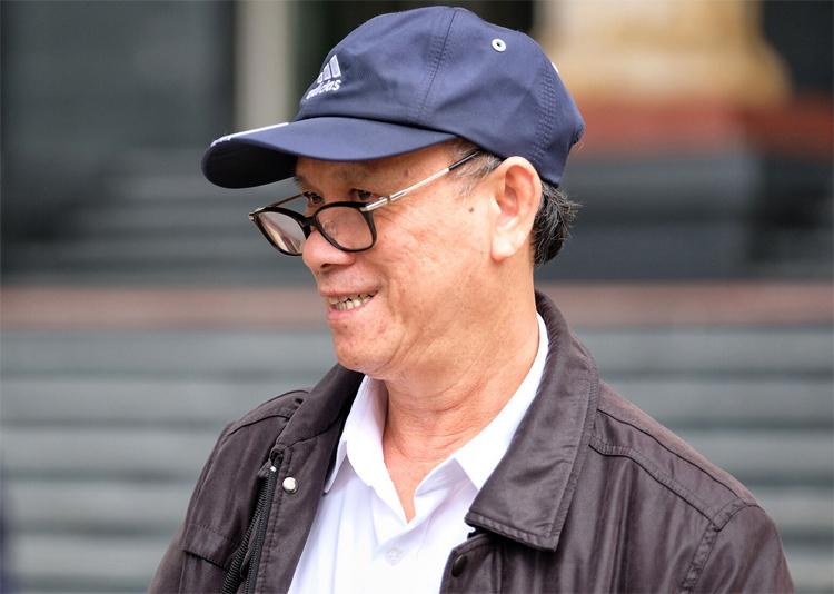 Cựu chủ tịch UBND Đà Nẵng Trần Văn Minh hầu tòa tại TAND Hà Nội. Ảnh: Giang Huy