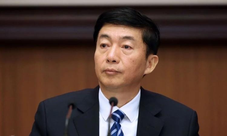 Lạc Huệ Ninh, tângiám đốc Văn phòng Liên lạc Chính quyền Trung ương Trung Quốc tại Hong Kong. Ảnh: SCMP.