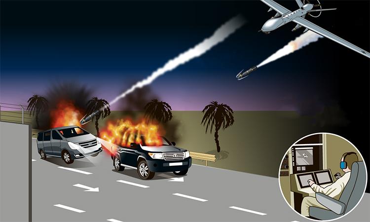 Đòn tên lửa Mỹ giết tướng Iran.Bấm vào ảnh để xem đầy đủ.