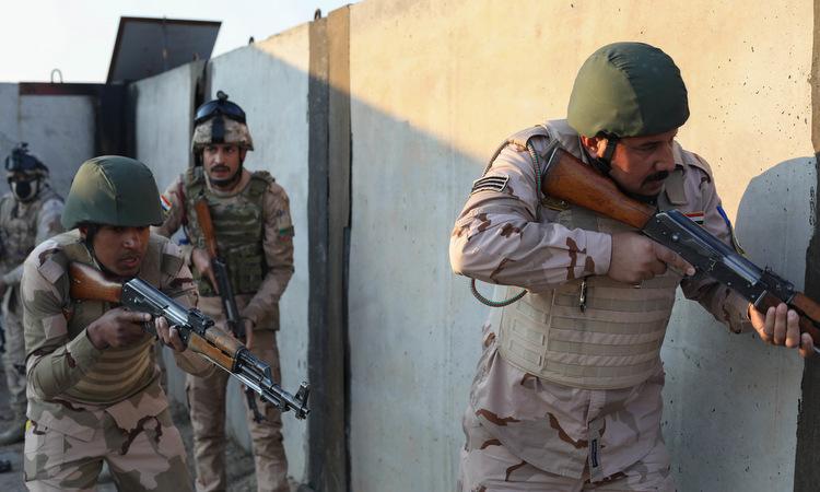 Binh sĩ Iraq được Mỹ huấn luyện hôm 22/12/2019. Ảnh: US Army.