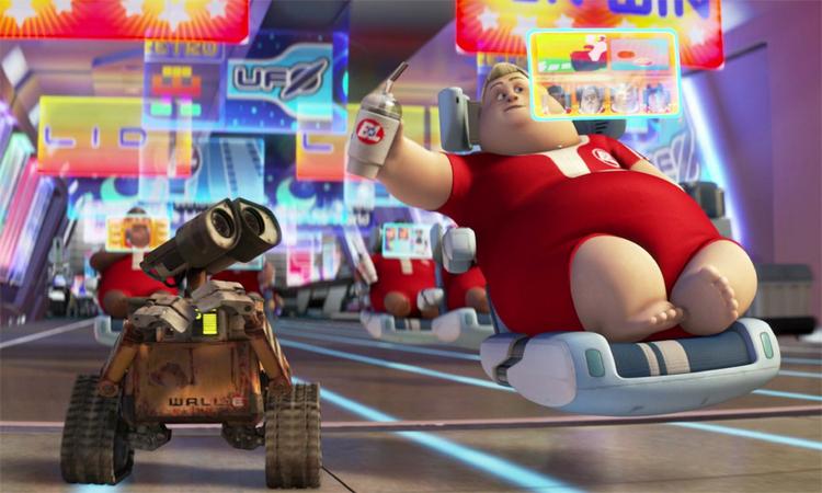 Chiếc ghế lười (bên phải)trong phim hoạt hình Wall-E.