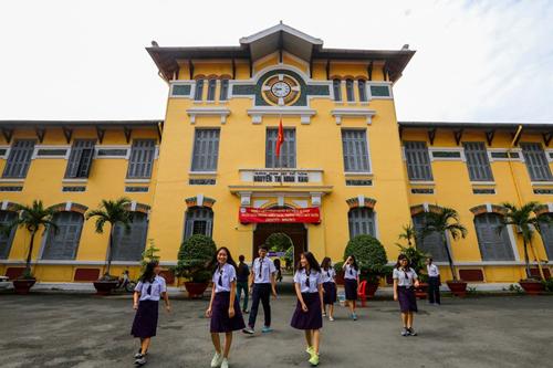 Trường THPT Nguyễn Thị Minh Khai. Ảnh: Quỳnh Trần.