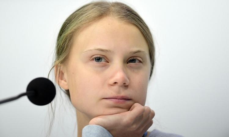 Greta Thunberg tạiHội nghị Liên Hiệp Quốc về Biến đổi Khí hậu ở Tây Ban Nha ngày 9/12. Ảnh: AFP.