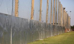Sân tập của U23 Việt Nam được rào kín