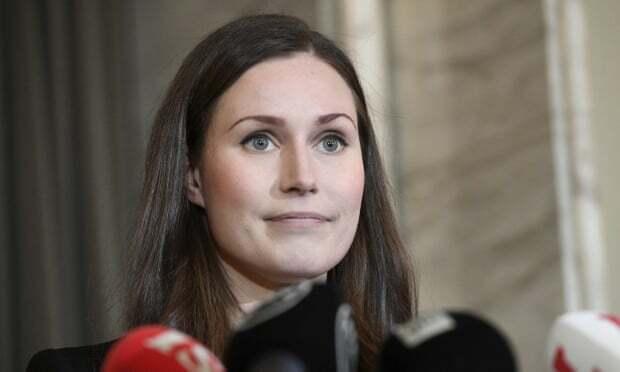 Thủ tướng Phần Lan Sanna Marin sau khi nhậm chức ngày 10/12 tại thủ đôHelsinki. Ảnh: AP