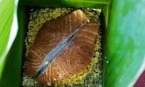 Bánh chưng nhân cá hồi Sea Games 2019 - VnExpress