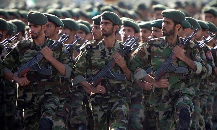 Binh sĩ IRGC trong một cuộc duyệt binh đầu năm 2019. Ảnh: Reuters.