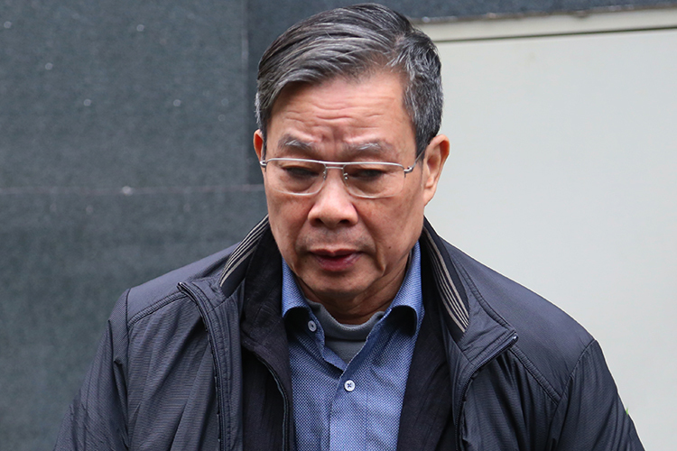 Cựu bộ trưởng Nguyễn Bắc Son bị tòa sơ thẩm phạt án tù chung thân. Ảnh: Giang Huy