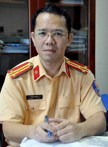 Thượng tá Nguyễn Quang Nhật, trưởng phòng tuyên truyền, giải quyết tai nạn giao thông, Cục CSGT. Ảnh. Minh Hải