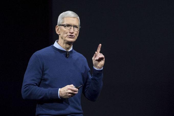 Tim Cook - CEO Apple. Ảnh: Bloomberg.