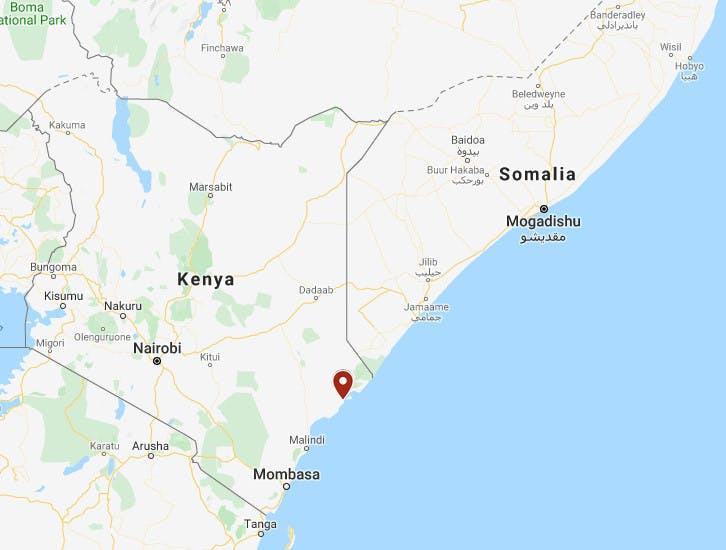 Vị trí căn cứ Simba. Đồ họa: Google Earth.