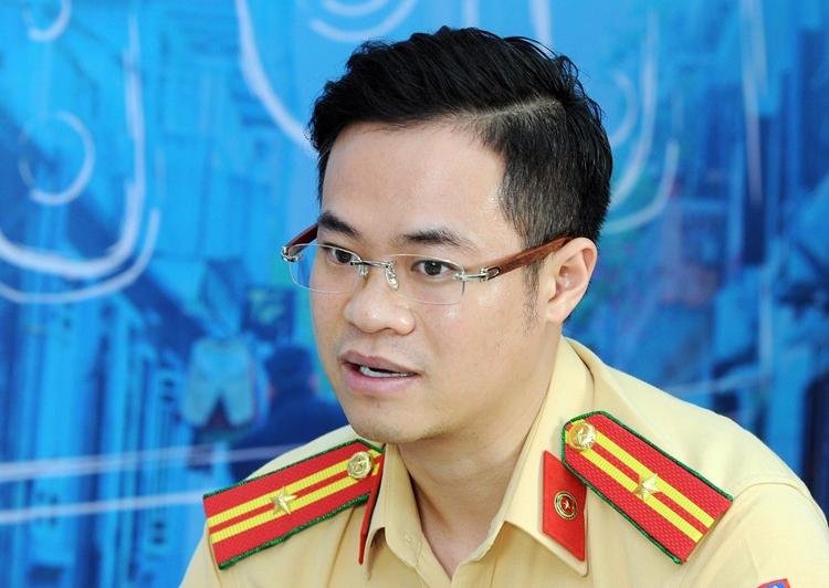 Thiếu tá Đào Việt Long, Phó trưởng phòng Cảnh sát giao thông, Công an Hà Nội. Ảnh:KhánhLinh