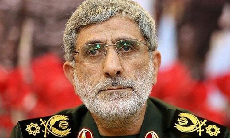 Esmail Qaani, tư lệnh lực lượng đặc nhiệm Quds của Vệ binh Cách mạng Iran. Ảnh: AP.