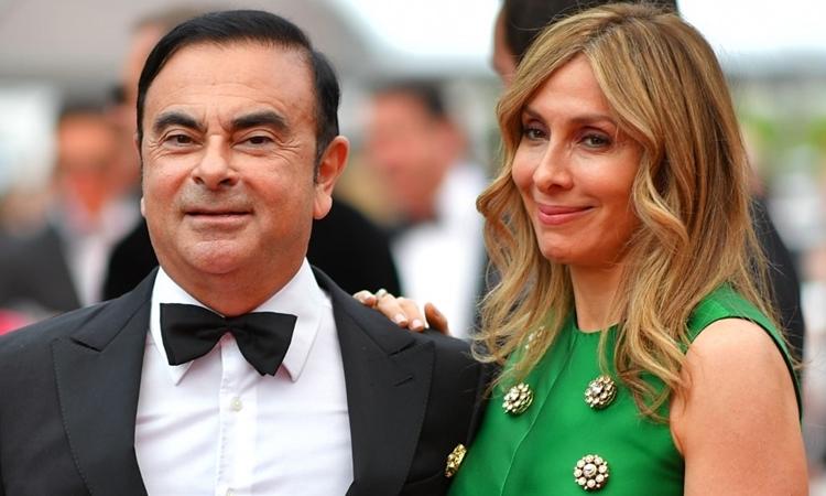 Carole và Carlos Ghosn tại Pháp tháng 5/2017. Ảnh: AFP.