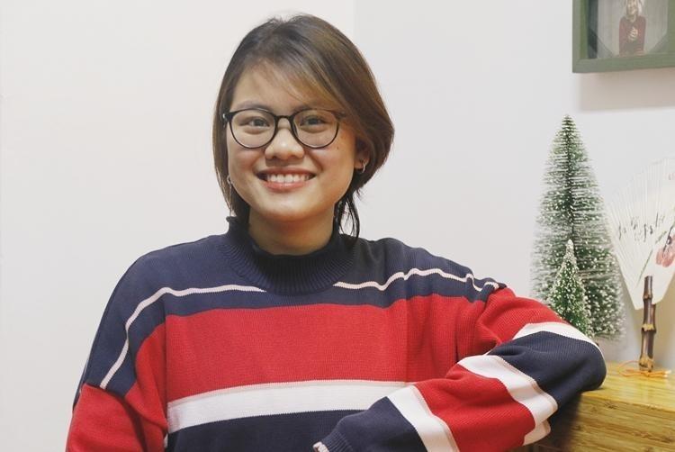 Lê Lan Khanh, người vừa giành học bổng của Đại học Vassar với mức hỗ trợ tài chính 53.000 USD một năm. Ảnh: Thanh Hằng