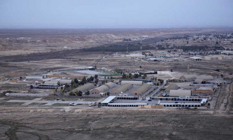 Căn cứ Ain al-Asad hồi cuối tháng 12/2019. Ảnh: AP.