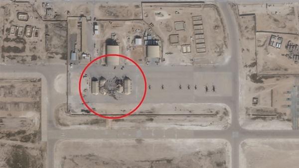 Căn cứ al-Asad ở Iraq chỉ chịu thiệt hại nhỏ sau vụ tấn công. Ảnh: CNN.