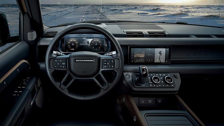 Nội thất thiết kế đặc trưng thương hiệu Land Rover.