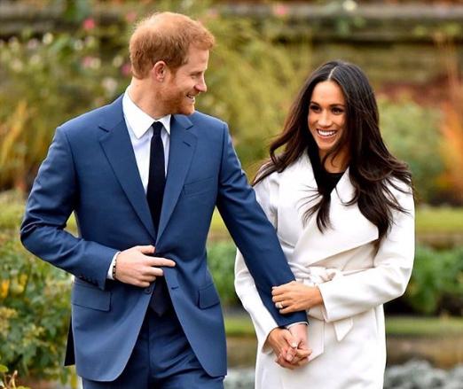 Hoàng tử Harry và Công nương Meghan trong dịp thông báo đính hôn vào năm 2018. Ảnh: sussexroyalVerifiedAf