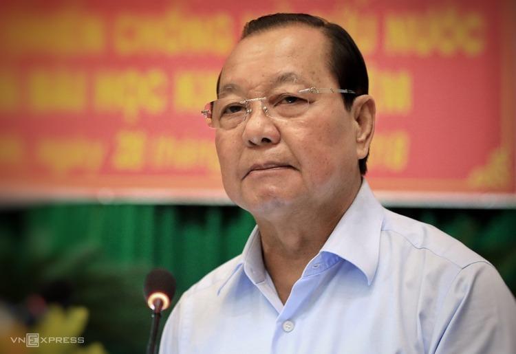 Ông Lê Thanh Hải, nguyên Bí thư Thành ủy TP HCM, tại Hội thảo khoa học Lực lượng Biệt động Sài Gòn - Gia Định năm 2018. Ảnh: Hữu Khoa.