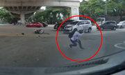 Thanh niên 'luyện khí công' sau khi bị ôtô húc văng
