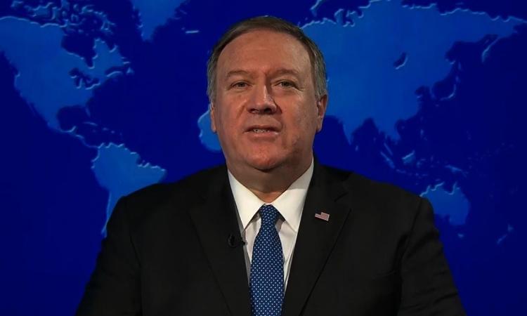 Ngoại trưởng Mỹ Mike Pompeo xuất hiện trên chương trình tin tức của CNN ngày 3/1. Ảnh: CNN.