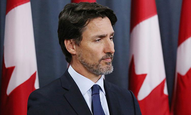 Thủ tướng Canada Justin Trudeauphát biểu về vụ rơimáy bay trong cuộc họp báo tại thủ đô Ottawa hôm 9/1. Ảnh: AFP.