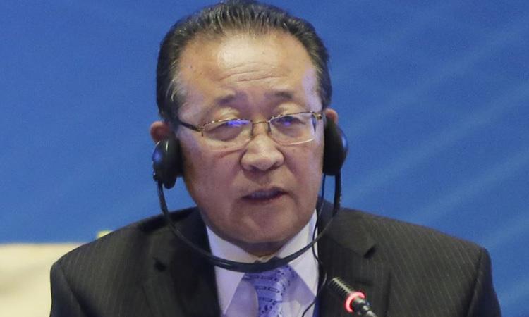 Cố vấn Bộ Ngoại giao Triều Tiên Kim Kye Gwan. Ảnh: Reuters.