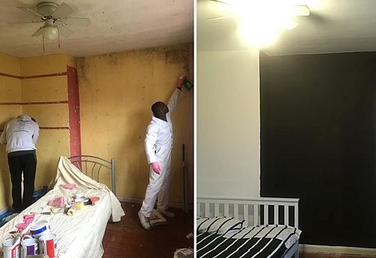 Một căn phòng trước và sau khi được trang trí lại.Ảnh: Carter news