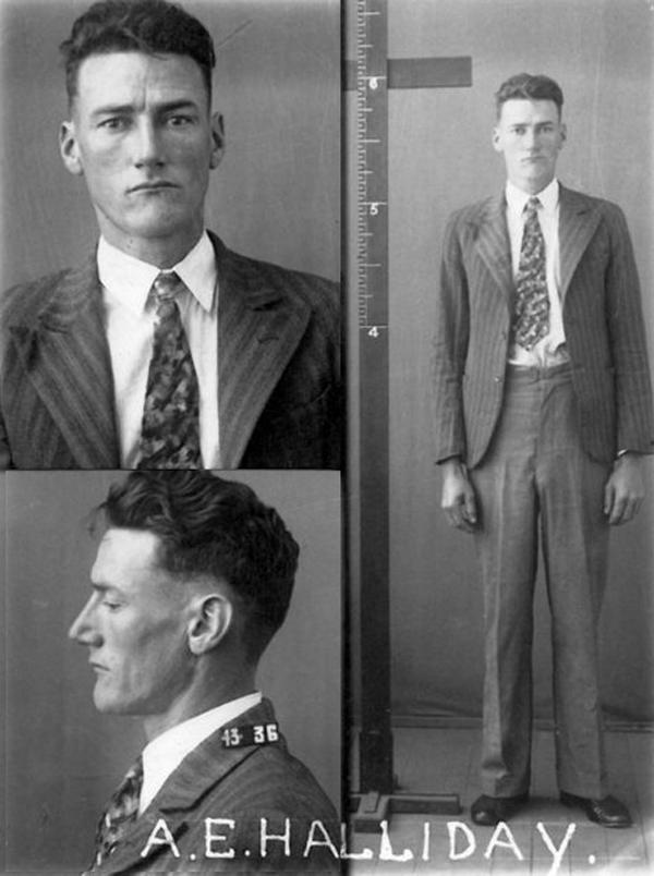 Arthur Ernest Halliday nổi bật vì thân hình cao lêu nghêu. Ảnh: Queensland Police Museum.