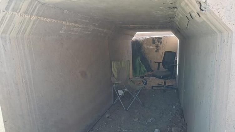 Một boongke trú ẩn của quân đội Mỹ tại căn cứ Al-Asad, Iraq hôm 11/1. Ảnh: CNN.