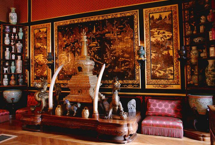 Một góc trưng bày trong bảo tàng Trung Quốc tại lâu đài Fontainebleau. Ảnh: Peter Neville-Hadley/Meridian Writers' Group.