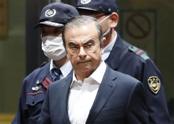Carlos Ghosn hồi tháng 4/2019 tại Tokyo, Nhật. Ảnh: AP